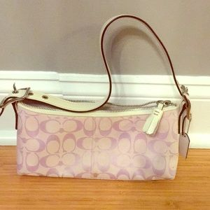 Lavender and white Coach bag